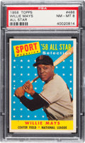 Baseball Cards:Singles (1950-1959), 1958 Topps Willie Mays All Star #486 PSA NM-MT 8....