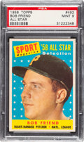 Baseball Cards:Singles (1950-1959), 1958 Topps Bob Friend All Star #492 PSA Mint 9 - None Higher....