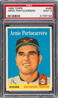 Baseball Cards:Singles (1950-1959), 1958 Topps Arnie Portocarrero #465 PSA Mint 9 - Pop Four, NoneHigher....