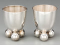 Silver Holloware, Continental, A Pair of Fritz August Breuhaus de Groot Silver-Plated Egg Cups forWMF, Geislingen, Germany, circa 1930. Marks: WMF. 2 ...(Total: 2 Items)