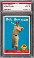 Baseball Cards:Singles (1950-1959), 1958 Topps Bob Bowman #415 PSA Mint 9 - None Higher....