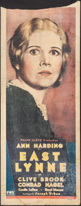 "Movie Posters:Drama, East Lynne (Fox, 1931). Trimmed Insert (14"" X 35""). Drama.. ..."