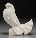 Ceramics & Porcelain, A Jacques Adnet Art Deco Glazed Ceramic Pigeon, circa 1930. Marks: ADNET. 8 inches high x 7-1/2 inches wide (20.3 x 19.1...
