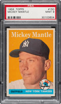 Baseball Cards:Singles (1950-1959), 1958 Topps Mickey Mantle #150 PSA Mint 9....