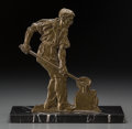 Other, An Art Deco Bronze Figure of a Foundry Worker, first half 20thcentury. 11-3/4 x 11-3/4 x 4-3/4 inches (29.8 x 29.8 x 12.1 c...