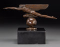 Sculpture, Harriet Whitney Frishmuth (American, 1880-1980). Speed, 1921. Bronze with brown patina . 3-3/4 inches (9.5 cm) high on a...