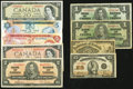Canadian Currency: , Group of Dominion of Canada and Bank of Canada Issues Nine Examples1900-1979.. ... (Total: 9 notes)