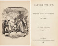 "Books:Literature Pre-1900, [Charles Dickens]. Oliver Twist; Or, the Parish Boy'sProgress. By ""Boz."" In Three Volumes. London: Richard Bent...(Total: 3 Items)"