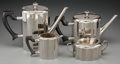 Silver Holloware, Continental, A Four-Piece WMF Art Deco Silver-Plated Tea and Coffee Service,Geislingen, Germany, circa 1930. Marks: WMF (logotype), ...(Total: 4 Items)