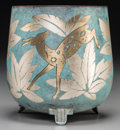 Decorative Arts, Continental:Other , A WMF Art Deco Mixed Metals Ikora Footed Jardinière withGazelle Motif, Geislingen, Germany, circa 1930. Marks: ...