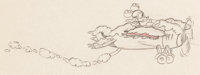 The Mail Pilot Mickey Mouse Animation Drawing (Walt Disney, 1933)