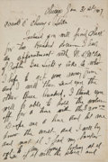 "Baseball Collectibles:Others, 1907 Adrian ""Cap"" Anson Handwritten Signed Letter...."
