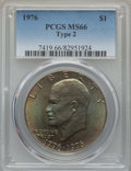 Eisenhower Dollars, 1976 $1 Type Two MS66 PCGS. PCGS Population: (498/13). NGC Census: (357/3). Mintage 113,318,000. ...