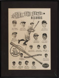 "Baseball Collectibles:Others, Circa 1949 Louisville Slugger ""Over The Fence Records"" AdvertisingDisplay. ..."