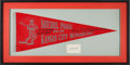 Baseball Collectibles:Others, 1940's Satchel Paige & The Kansas City Monarchs Multi-Signed Pennant & Cut Display. ...