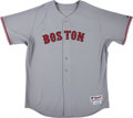 Baseball Collectibles:Uniforms, 2008 Mike Timlin Game Worn Boston Red Sox Jersey with MLB Hologram....
