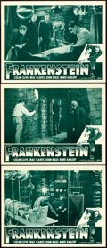 "Movie Posters:Horror, Frankenstein (Universal, R-1947). Lobby Cards (3) (11"" X 14"").. ...(Total: 3 Items)"