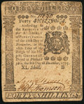Colonial Notes:Pennsylvania, Pennsylvania December 8, 1775 40s Extremely Fine.. ...