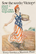 Prints, James Montgomery Flagg (American, 1877-1960). Victory Garden, World War I poster, 1918. Lithograph in colors. 31-1/2 x 2...