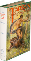 Books:Science Fiction & Fantasy, Edgar Rice Burroughs. Tarzan Lord of the Jungle. Chicago,Illinois: A. C. McClurg & Co., 1928. First edition of the ...