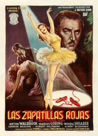 "The Red Shoes (Europa Films, 1948). Spanish One Sheet (31.25"" X 43.75"") Anselmo Ballester Artwork"