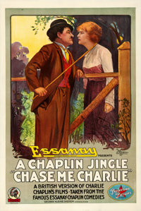 "Chase Me Charlie (Essanay, 1917). One Sheet (27"" X 41"")"