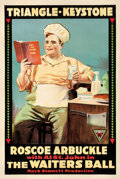 "Movie Posters:Comedy, The Waiter's Ball (Triangle-Keystone, 1916). One Sheet (27.75"" X41.5"").. ..."