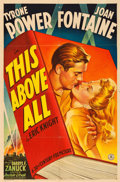 "Movie Posters:War, This Above All (20th Century Fox, 1942). One Sheet (27"" X 41"") Style B.. ..."