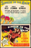 "Movie Posters:Musical, Singin' in the Rain (MGM, 1952). Title Lobby Card & DeluxeTitle Lobby Card (11"" X 14"").. ... (Total: 2 Items)"