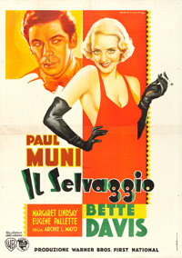 "Bordertown (Warner Brothers, 1935). Italian 4 - Fogli (54.5"" X 77.5"") Luigi Martinati Art"