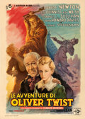 "Movie Posters:Drama, Oliver Twist (Eagle Lion, 1948). Italian 2 - Fogli (39.5"" X 55"").Anselmo Ballester Artwork.. ..."