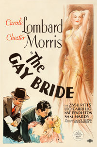 """The Gay Bride (MGM, 1934). One Sheet (27"""" X 41"""") Vincentini (Ted Ireland) Artwork"""