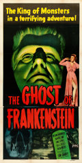 "Movie Posters:Horror, The Ghost of Frankenstein (Realart- R-1948). Three Sheet (41"" X 80.5"").. ..."