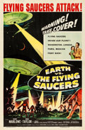 "Movie Posters:Science Fiction, Earth vs. the Flying Saucers (Columbia, 1956). One Sheet (27"" X41"").. ..."