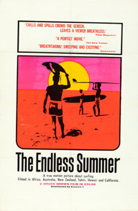 "The Endless Summer (Cinema 5, 1966). Day-Glo One Sheet (27"" X 41""). John Van Hamersveld Artwork"