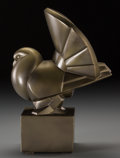 Bronze:European, Jan and Joel Martel (French, 1896-1966). Pigeon Ecossais, 1926. Gilt Lakarmé. 13 inches (33.0 cm) high. Inscribed on bas...