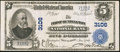 National Bank Notes:West Virginia, Huntington, WV - $5 1902 Plain Back Fr. 598 The First NB Ch. #3106. ...