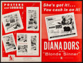 """Movie Posters:Bad Girl, Blonde Sinner & Others Lot (Allied Artists, 1956). UncutPressbooks (6) (Multiple Pages, 12"""" X 18"""", 13"""" X 16.5"""", & 11"""" X17""""... (Total: 6 Items)"""