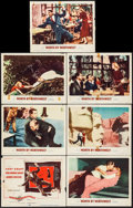 "Movie Posters:Hitchcock, North by Northwest (MGM, 1959). Title Lobby Card & Lobby Cards(6) (11"" X 14""). Hitchcock.. ... (Total: 7 Items)"