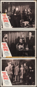 "Movie Posters:Science Fiction, Plan 9 from Outer Space (DCA, 1958). Lobby Cards (3) (11"" X 14"").Science Fiction.. ... (Total: 3 Items)"