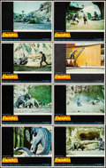 """Movie Posters:Science Fiction, The Valley of Gwangi (Warner Brothers, 1969). Lobby Card Set of 8(11"""" X 14"""") (1 Autographed Card) & French Lobby Card Set o...(Total: 14 Items)"""