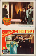 """Movie Posters:Mystery, Secrets of the Lone Wolf & Other Lot (Columbia, 1941). LobbyCards (2) (11"""" X 14""""). Mystery.. ... (Total: 2 Items)"""