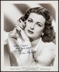 "Joan Bennett in The Macomber Affair (United Artists, 1947). Autographed Portrait Photo (8"" X 10""). Drama"