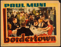 "Movie Posters:Crime, Bordertown (Warner Brothers, 1935). Linen Finish Lobby Card (11"" X14""). Crime.. ..."