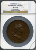Washingtonia, 1887 International Medical Congress MS66 Brown NGC. Baker-F378, Musante GW-1038. Bronze, plain edge, 76mm....