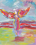 Fine Art - Painting, American:Contemporary   (1950 to present)  , Peter Max (American, b. 1937). Ascending Angel, 1999.Acrylic on canvas. 20 x 16 inches (50.8 x 40.6 cm). Signed upperr...
