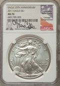 Modern Bullion Coins, 2011 $1 Silver Eagle, 25th Anniversary MS70 NGC. NGC Census: (4218). PCGS Population: (486). ...
