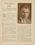 "Baseball Collectibles:Others, 1930's Jimmie Foxx Signed ""Who's Who"" Magazine Page...."