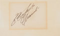 Baseball Collectibles:Others, Circa 1970 Roberto Clemente Signed Index Card....