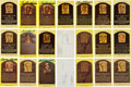 Baseball Collectibles:Others, 1980's-90's Baseball Hall of Fame Yellow Postcards Lot of 133. ...